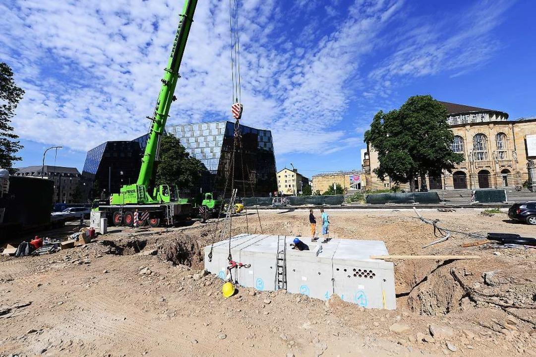 Auch die Brunnenkammer wurde in Teilen...die Bauarbeiter dann aneinanderfügten.  | Foto: Ingo Schneider