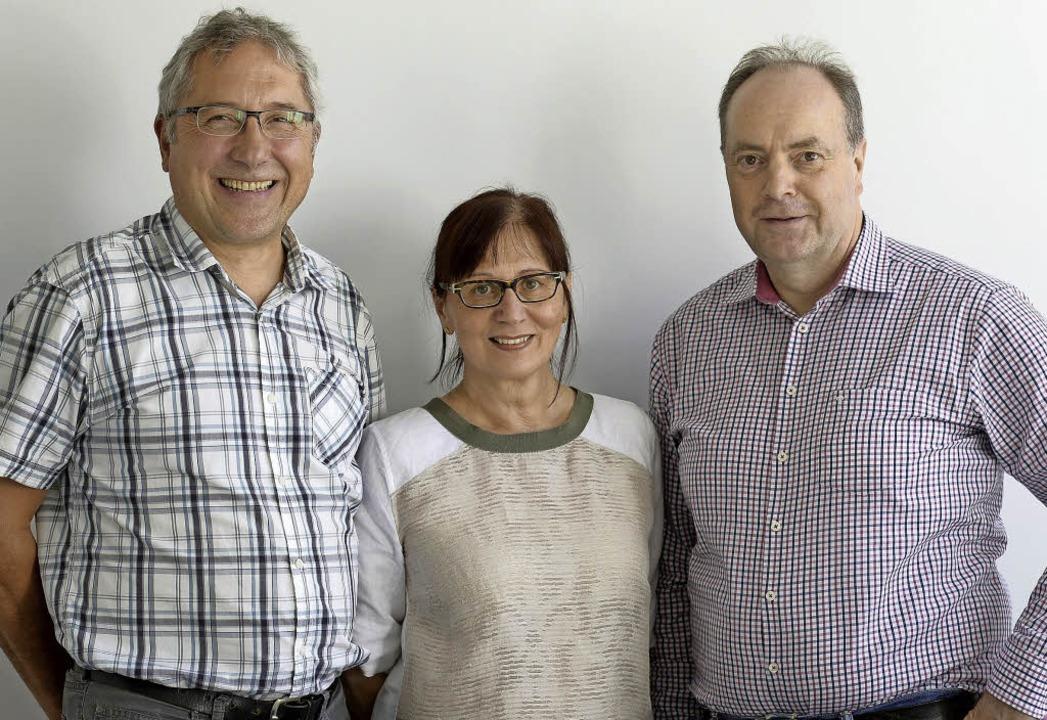 Die neue Vorsitzende Anca Rosler-Kosla...er (links)  und Christian Himmelsbach   | Foto: Ingo Schneider