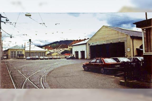 Wo einst Straßenbahnwagen über Nacht stand, befindet sich heute ein Wohngebiet