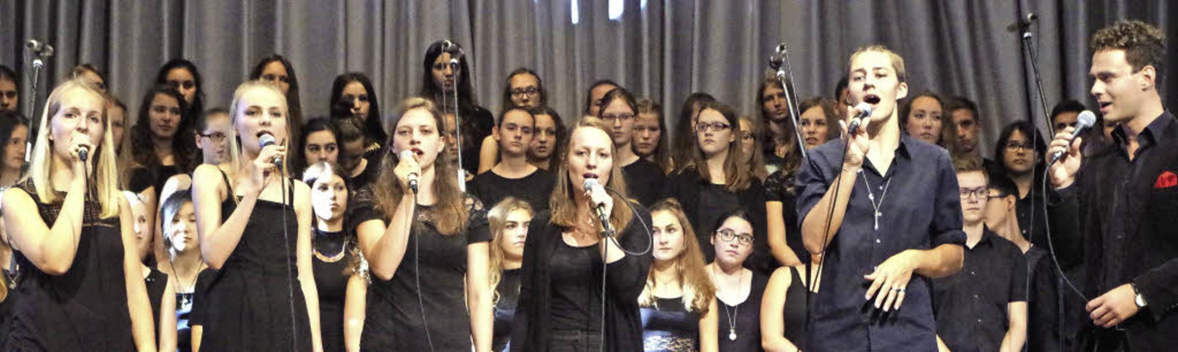 Perfekt aufeinander abgestimmt: Das A-Cappella-Ensemble  | Foto: Katharina Bächle