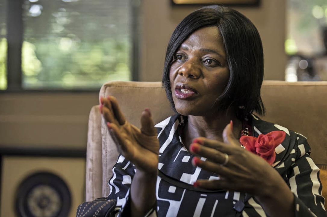 Thuli Madonsela scheute sich  nicht da...ndung von Steuergeldern anzuprangern.   | Foto: AFP