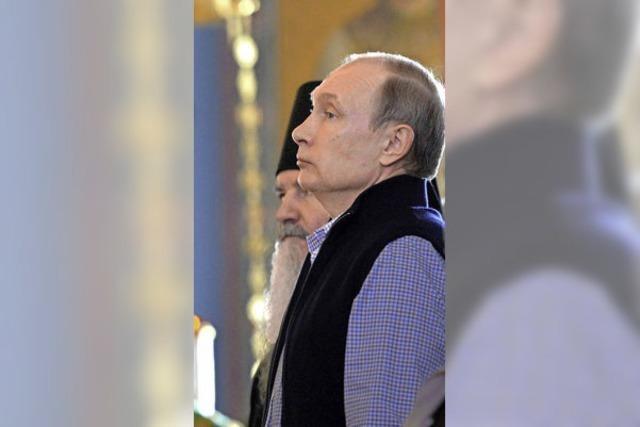 Putin im Kloster