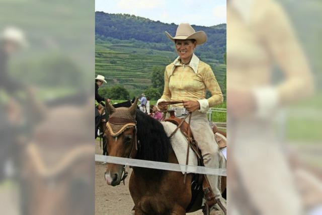 Cowboys und Cowgirls auf dem Ihringer Reitgelände