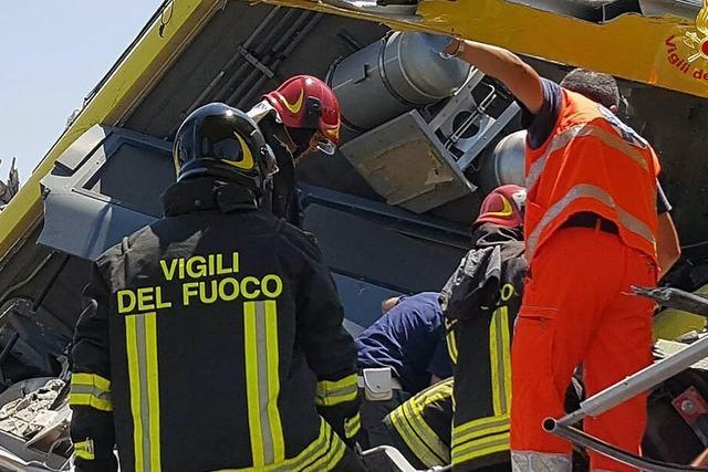 Zugunglück bei Bari – Rettung der Opfer dauert an