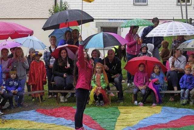 Zirkus Pfiffikus bei Regen