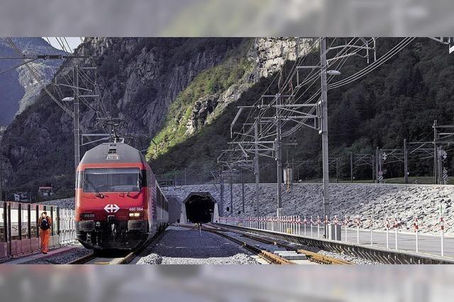 Durch den Gotthard-Basistunnel