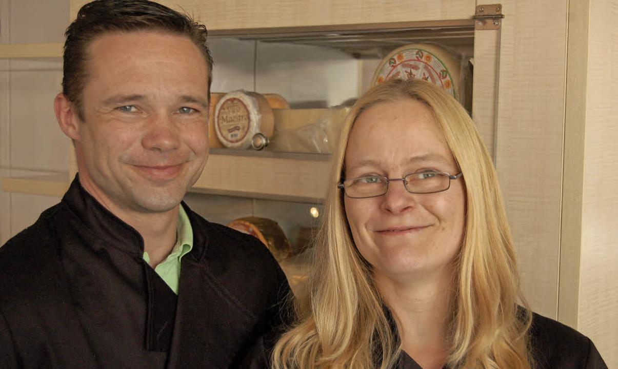 """Nadine Hermann und Sven Siegmüller von...müller"""" im Bürkle-Bleiche-Center.    Foto: Christian Ringwald"""
