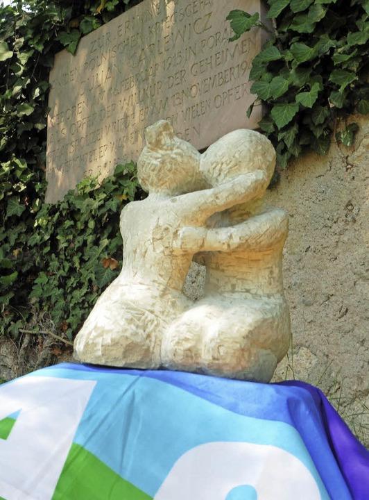 Modell der künftigen Skulptur in Erinn...an das Schicksal von Julian Garlewicz.    Foto: Privat