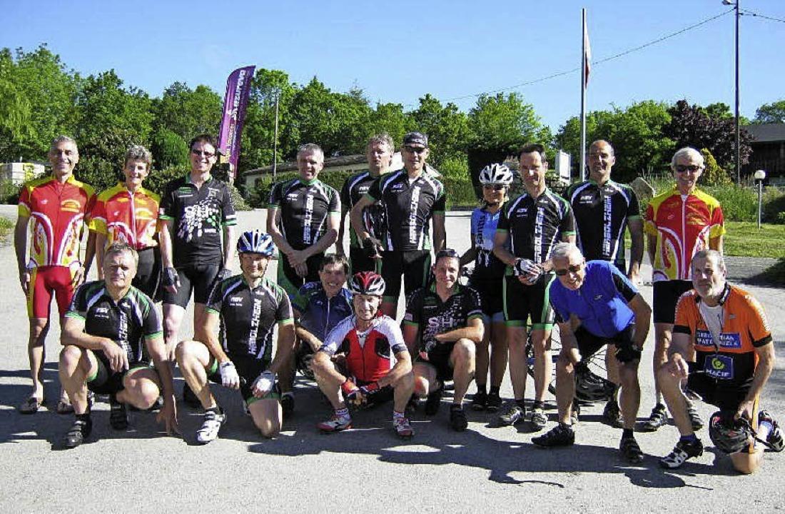 Der RSV Herbolzheim war bei der  Radsp...den vom Cyclo-Club Sisteron unterwegs.    Foto: Privat