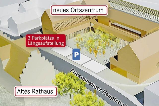 Kurzzeitparken vor dem Ortszentrum