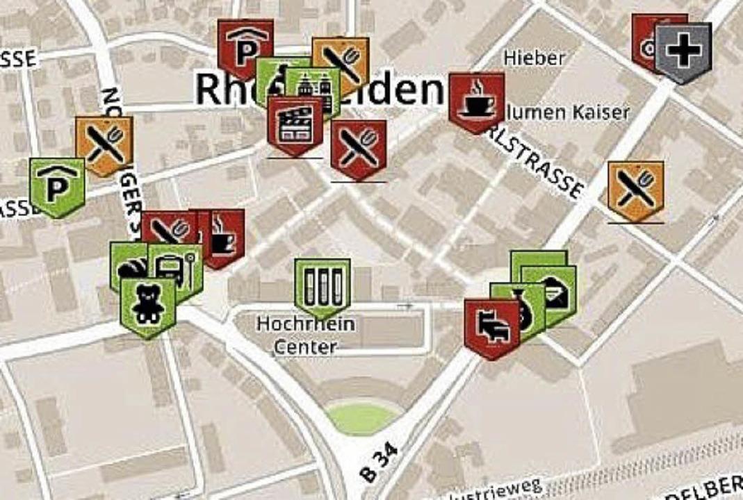 So sieht die Karte für Rheinfelden aktuell aus.   | Foto: Screenshot: BZ