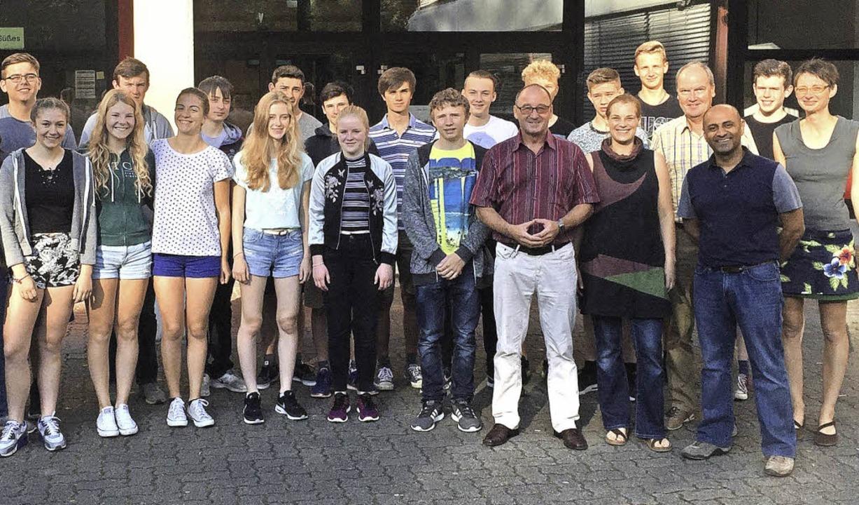 Einige der Schüler aus Bristol und vom LMG   | Foto: Lise-Meitner-Gymnasium