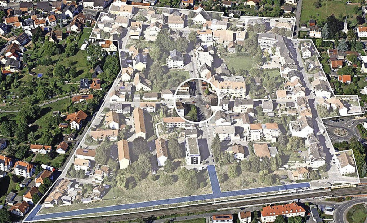 Luftübersicht Neue Mitte Wyhlen  | Foto: Gemeinde Grenzach-Wyhlen
