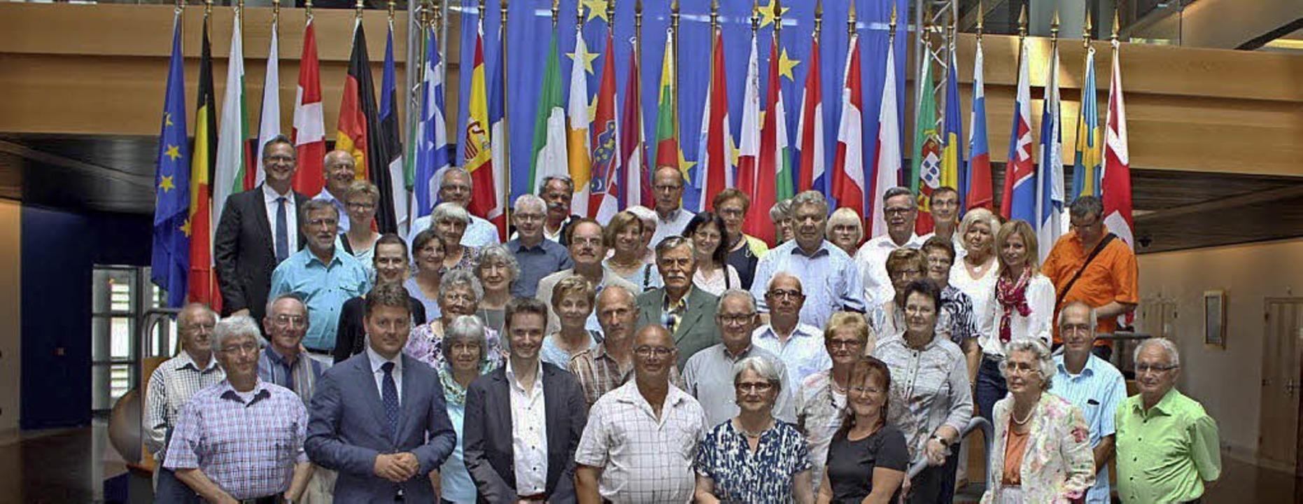Europäer asus dem Elztal: Die Elzacher...läum im Europaparlament in Straßburg.     Foto: Privat
