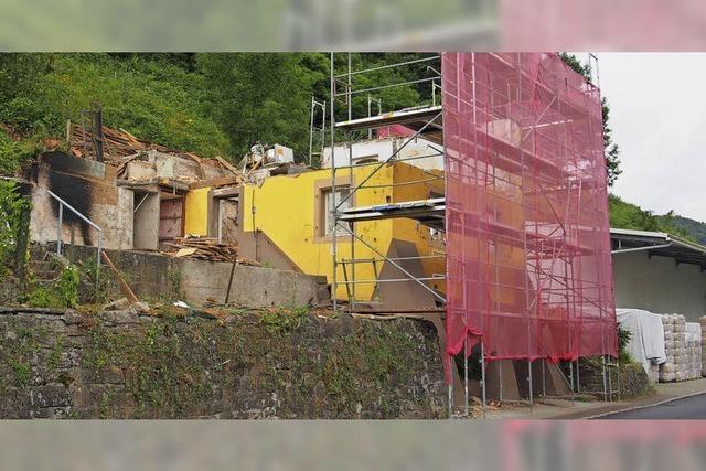Neubauten verändern den Ortseingang von Degerfelden