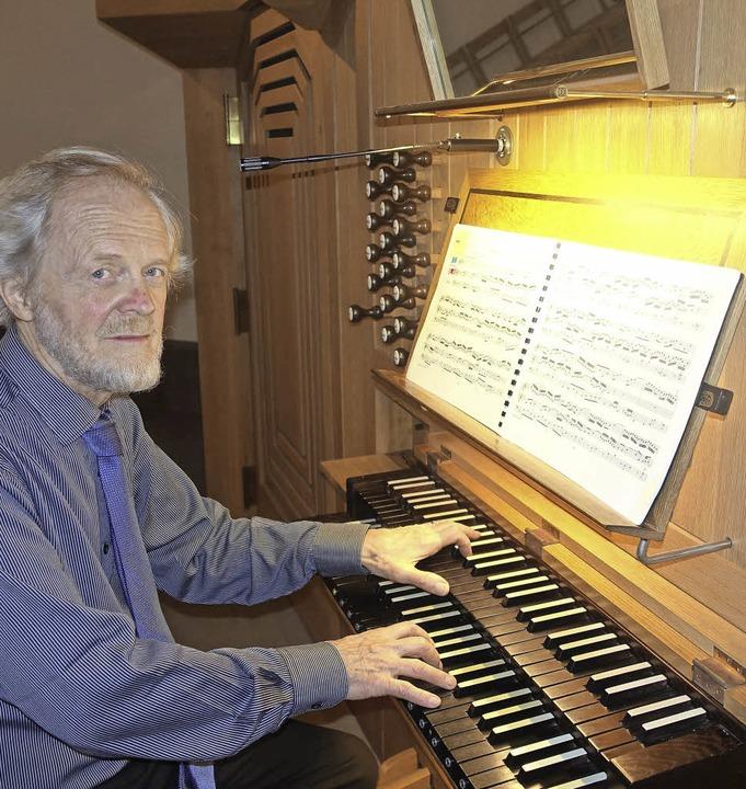 Aus Australien kam  Organist Douglas L...e ein deutsch-französisches Programm.     Foto: Roswitha Frey
