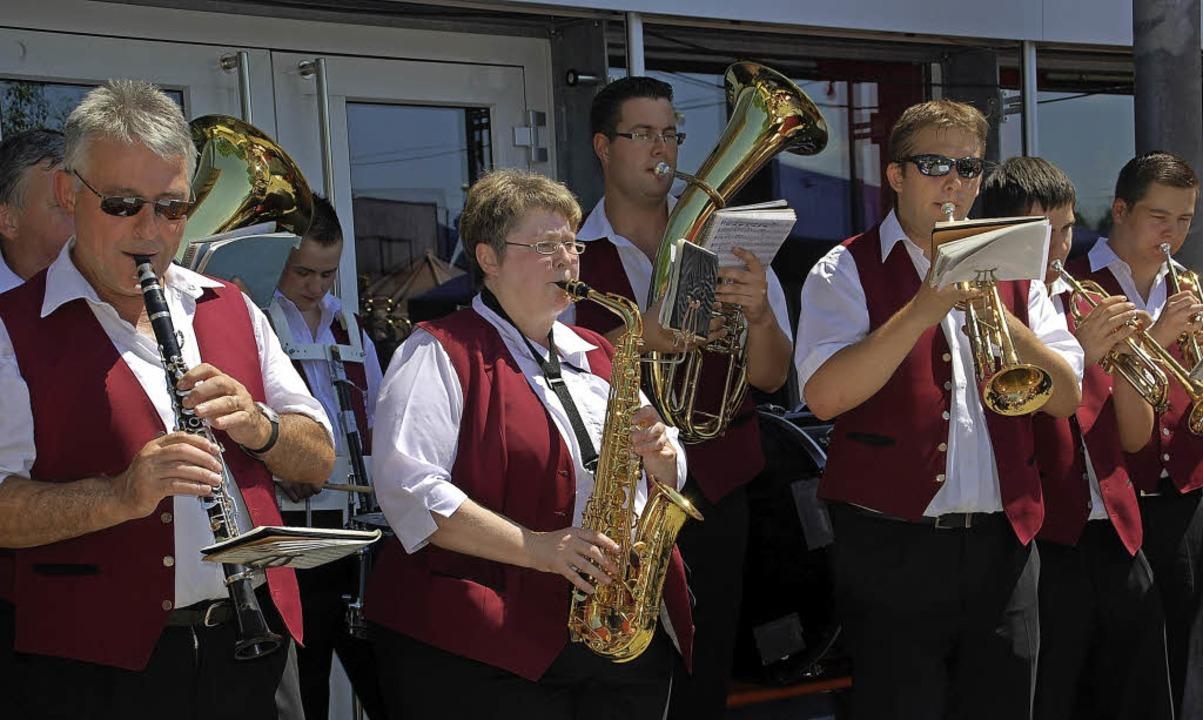 Der Musikverein Gresgen wird am Sonntag zum Frühschoppen aufspielen     Foto: Steinfelder