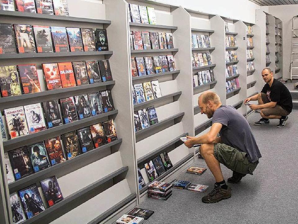 Im Juli 2014 war Videorent neu gestart... schließt die Videothek nun endgültig.  | Foto: Daniel Laufer