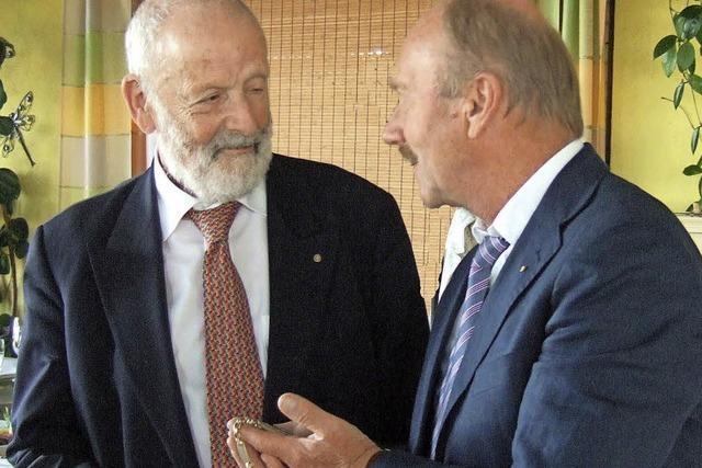 Schweizer Präsident im deutsch-französischen Club