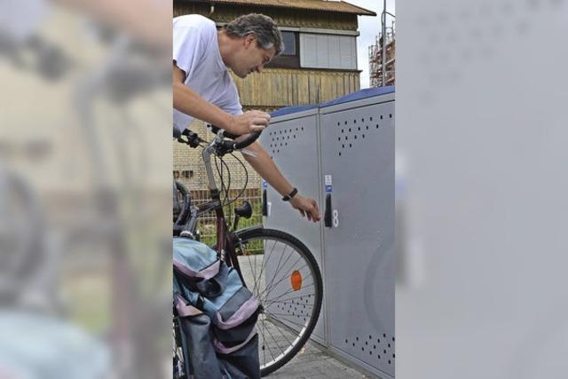 Das Projekt Fahrradboxen kommt gut an