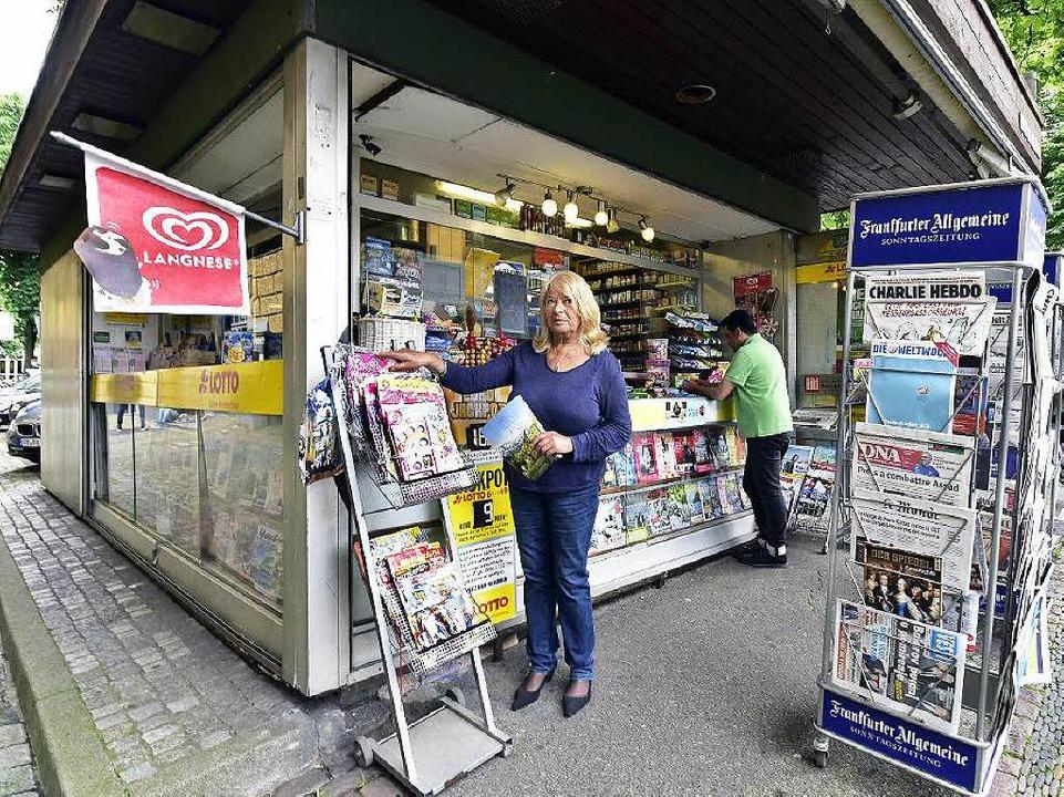 Christine Goldschmidt vom Kiosk am Holzmarkt  | Foto: Thomas Kunz