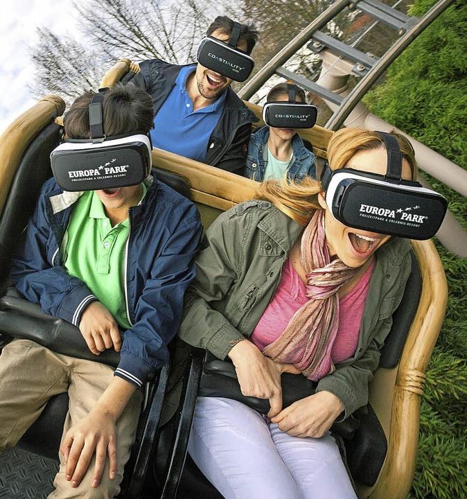 Doppelten Fahrspaß bietet das neue Ang...eise dank Brille in virtuelle Welten.   | Foto: haasinparis.com