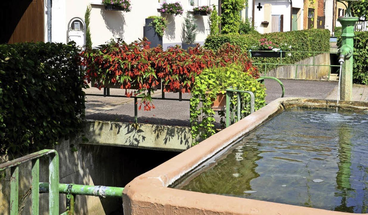 Vor allem über den Dorfbach in Jechtingen führen viele Brücken.   | Foto: Roland Vitt