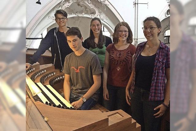 Fridolinsmünster Bad Säckingen Orgelkonzert mit sechs jungen Organisten