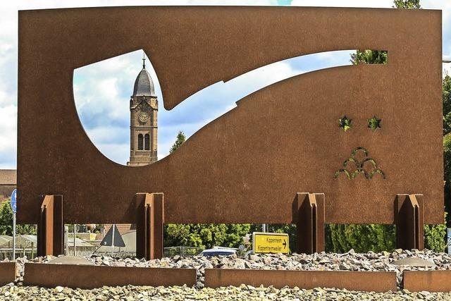 Pfeife aus Stahl als Kunst im Kreisverkehr? Jetzt hat das Verwaltungsgericht das Wort