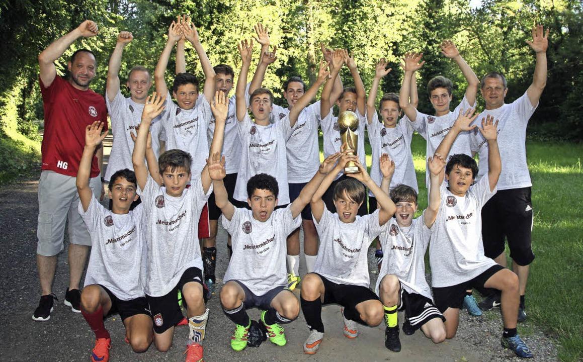 Die Mannschaft des SV Burkheim wurde M...n der Kleinfeldstaffel der C-Jugend .     Foto: Herbert Trogus