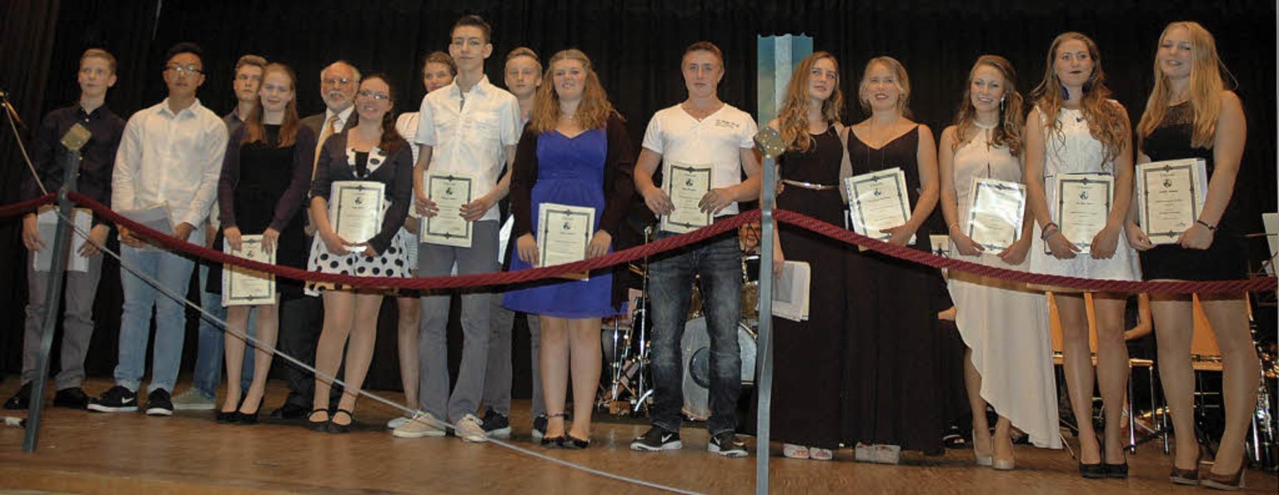 Die Preisträger der Fürstabt-Gerbert-Schule in St. Blasien     Foto: Christiane Sahli