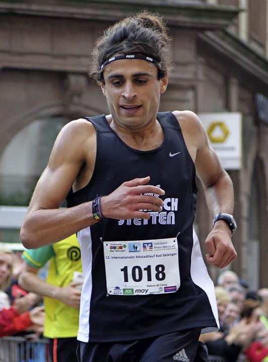 Omar Tareq kam als erster beim Grand-Prix-Lauf ins Ziel.    Foto: Theresa Tröndle