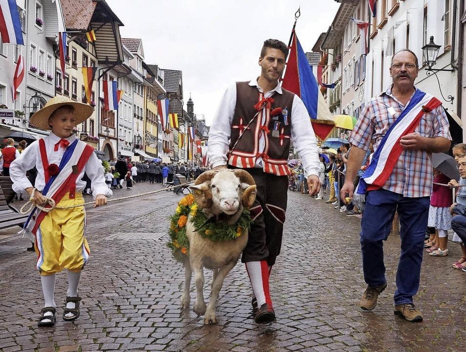 Um den Bock geht es bei der Chilbi in Waldshut.     Foto: Freudig
