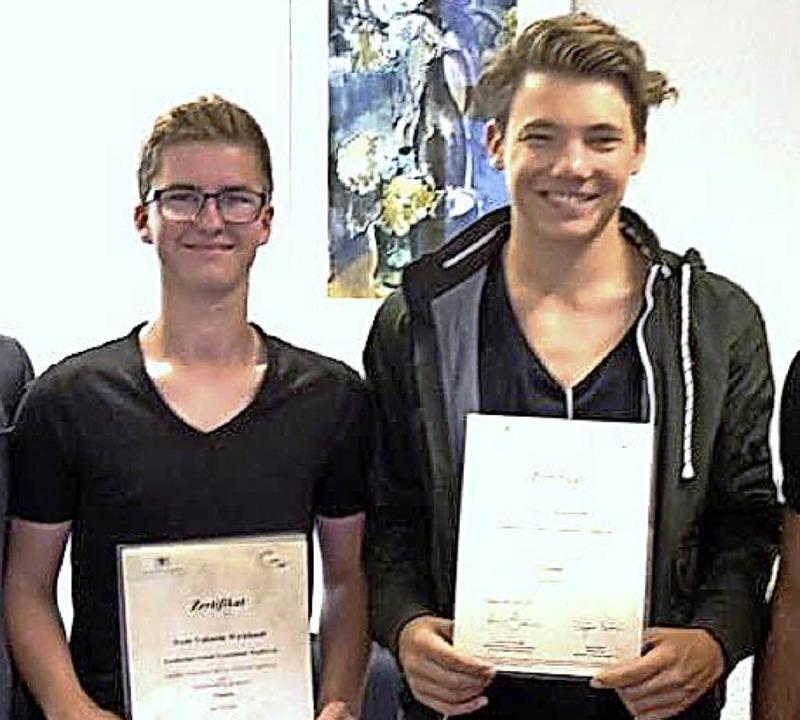<BZ-FotoAnlauf>GSG-Schüler </BZ-FotoAn...:  Noah Wicklandt und Sven Grünenwald.    Foto: Schule