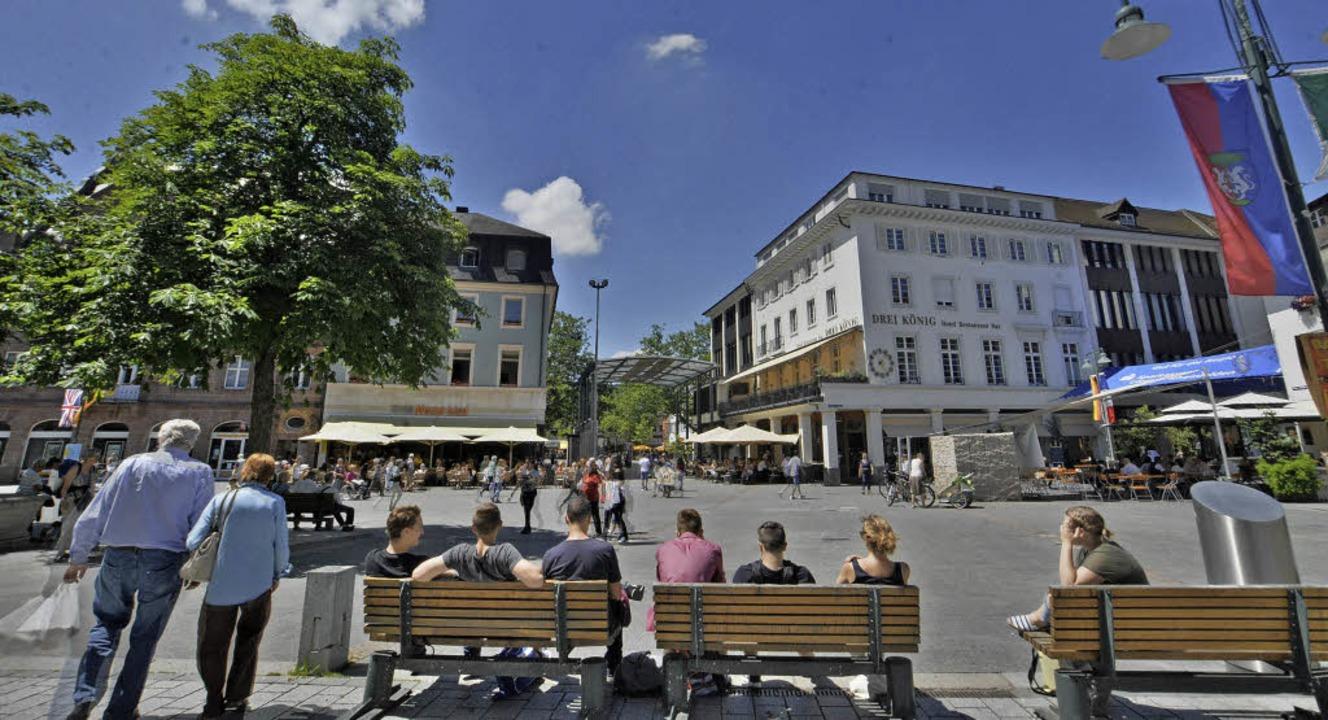 Der Alte Markt wird heute als zentrale...ch nur um eine große Straßenkreuzung.     Foto: Barbara Ruda