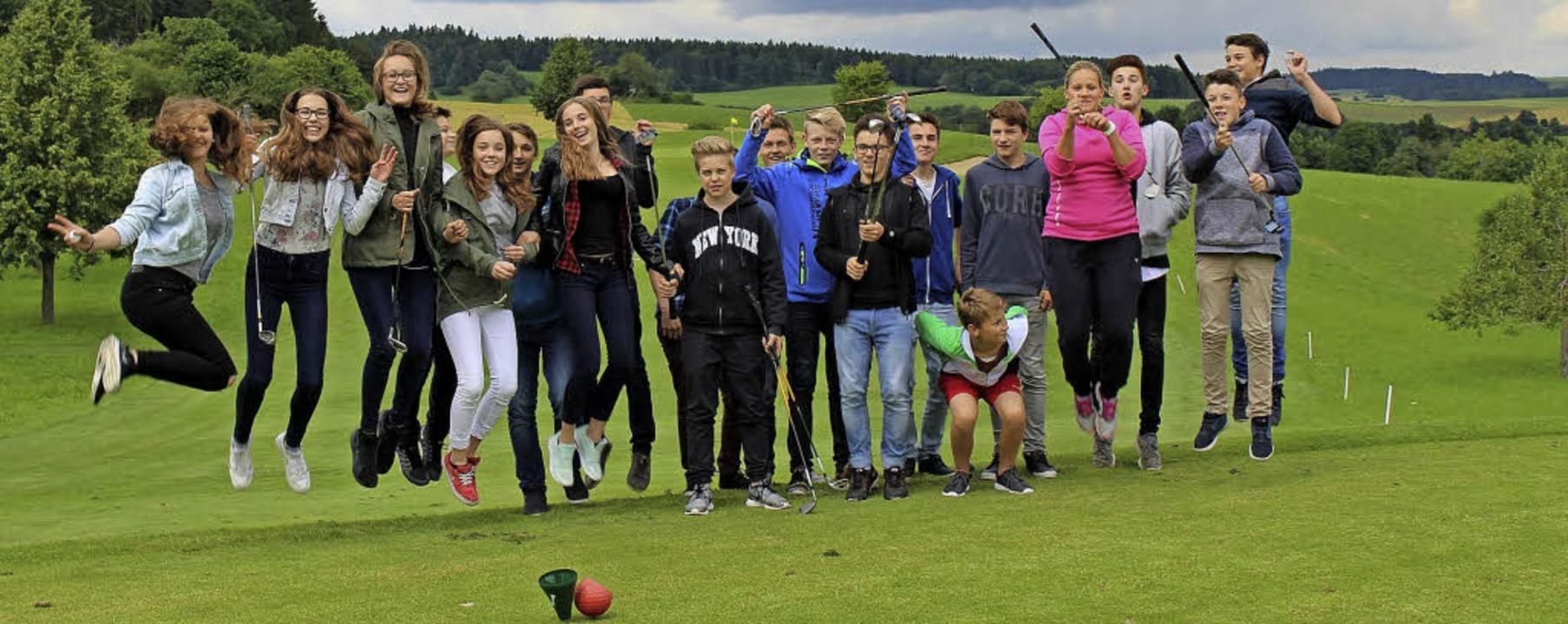 Das golfende Klassenzimmer der Realschule Bonndorf   | Foto: Golfclub Obere Alp