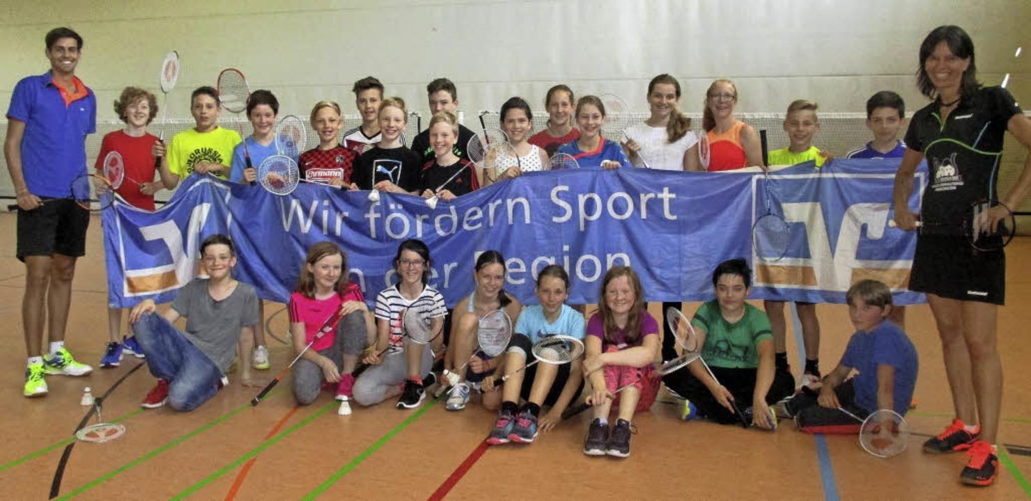 Badminton-Profi Nicole Grether besucht...heodor-Heuss-Gymnasium in Schopfheim.   | Foto: zvg