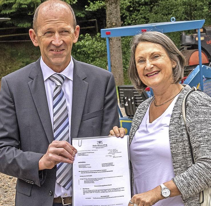 Regierungspräsidentin Bärbel Schäfer b...n Höhe von einer halben Million Euro.     Foto: Chris Seifried
