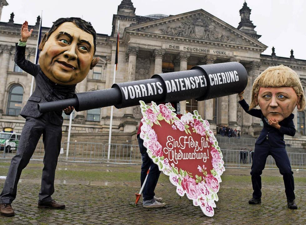 Protest  gegen Vorratsdatenspeicherung   | Foto: DPA