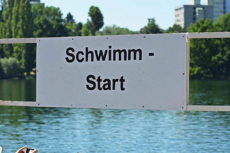 Kraftprobe in drei Akten: Impressionen vom Freiburg-Triathlon rund um den Seepark. (Foto: Lucas Roth)