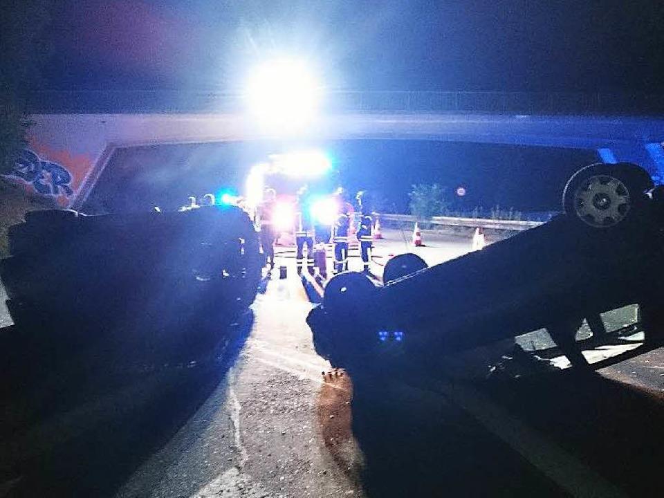 Glück im Unglück hatten der 27-jährige...er 18-Jährige, mit dem er kollidierte.  | Foto: Feuerwehr Gundelfingen