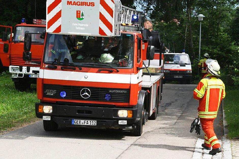 Feuerwehrübung in Görwihl