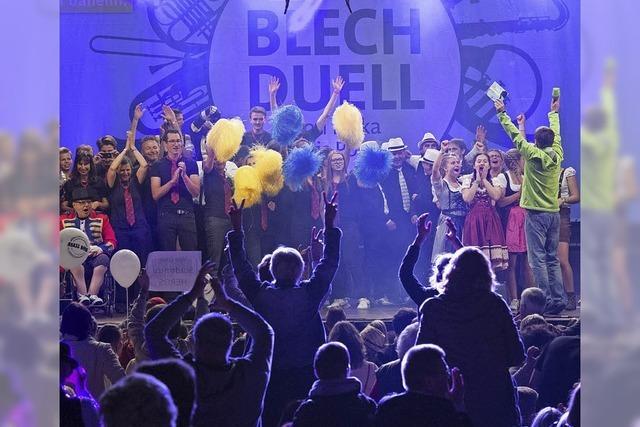 18000 Besucher verfolgen den Vorentscheid des SWR-Blechduells in Müllheim