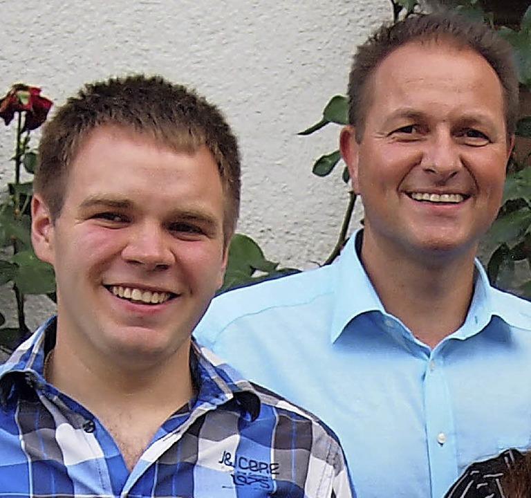 Michael Glaser (links) ist neu im Orts...l Grüterich neuer Ortsvorsteher-Vize.   | Foto: Poppen