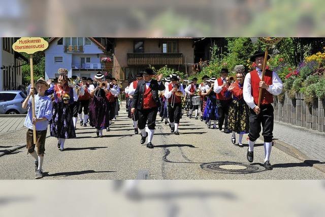 Jubiläumsumzug in Obersimonswald