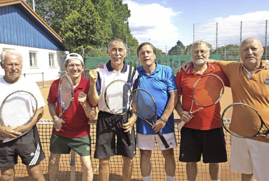 Die Männer 65 des TC Neustadt sind Bad...ld, Rudolf Kiefer und Willi Schlozer.   | Foto: verein