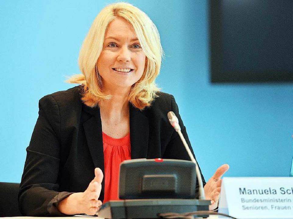 Bundesfamilienministerin Manuela Schwesig    Foto: dpa