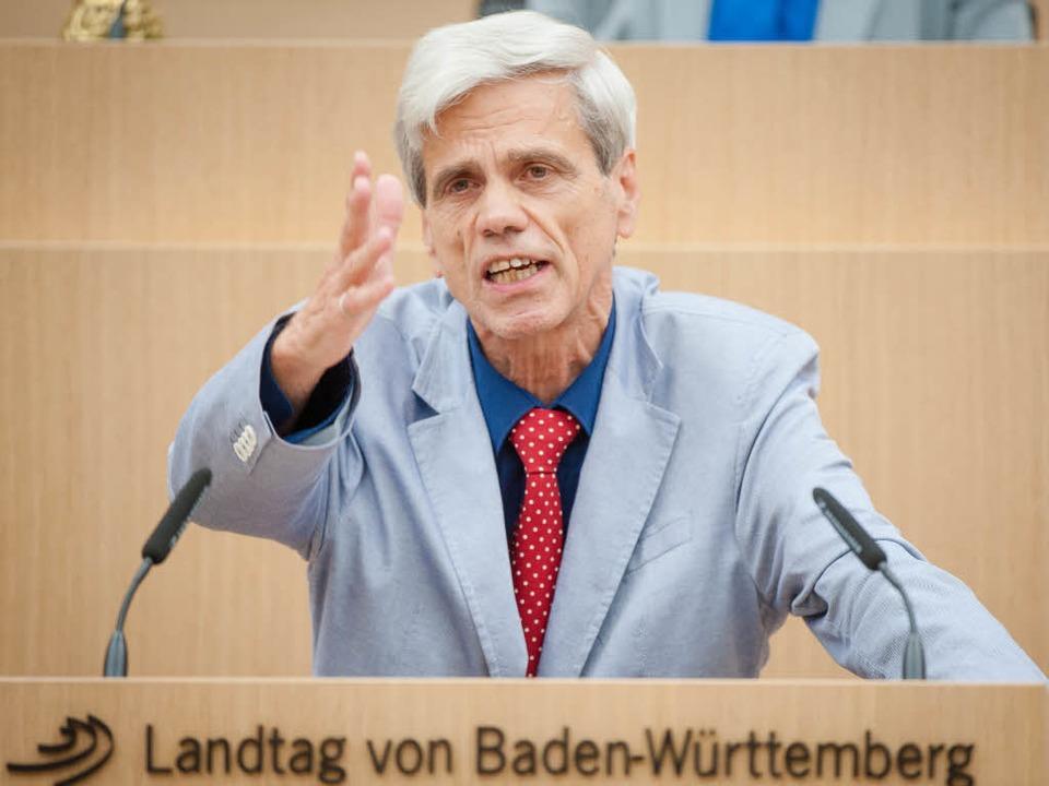 Der Abgeordnete Wolfgang Gedeon im Lan...Parteiausschlussverfahren eingeleitet.    Foto: dpa