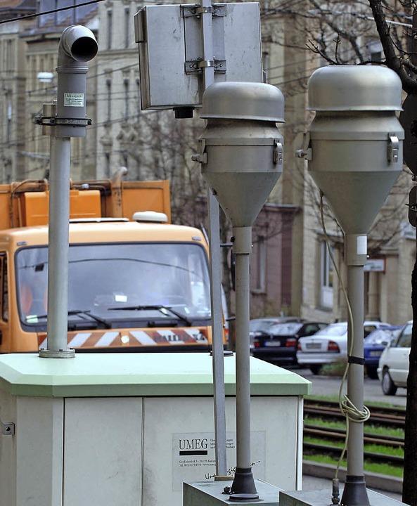 Messstation in Stuttgart: So ähnlich k...ch die Haltinger Messstelle aussehen.   | Foto: dpa