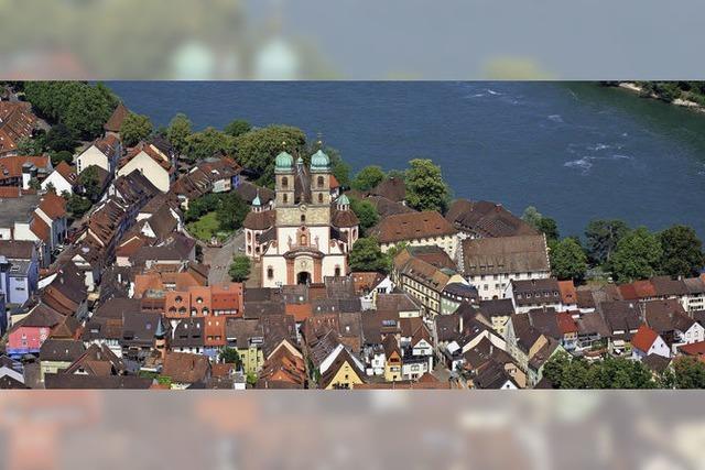 Der Rhein als Perlenschnur